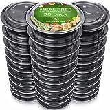 [Set de 30] Contenedores de Comida Plástico Reutilizable - Hermetico recipientes para Alimentos -...