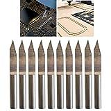 CESFONJER 10 pcs 30 ° 0,2 mm Grabado de Carburo Conjunto de Brocas para Fresar Herramientas Rotativas Kit de Surtido para Maquinaria CNC Tablero de PCB Tallado Perforación Fresado Marcado Acero