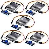 AZDelivery 5 pcs Modulo Sensor de lluvia compatible con Arduino con E-book incluido!