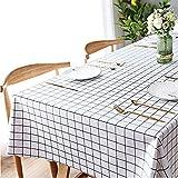 Wachstuch-Tischdecke Abwaschbar Garten-Tischdecke Wachstischdecke PVC Plastik-Tischdecken Wasserabweisend Abwischbar 140x180 cmWeiß