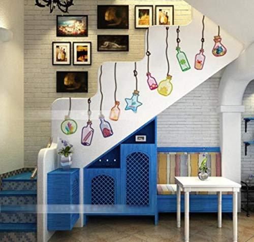 Zelfklevende muurstickers driften fles woonkamer eetkamer slaapkamer meisjes kamer dressing studie bank Wall120 * 75cm