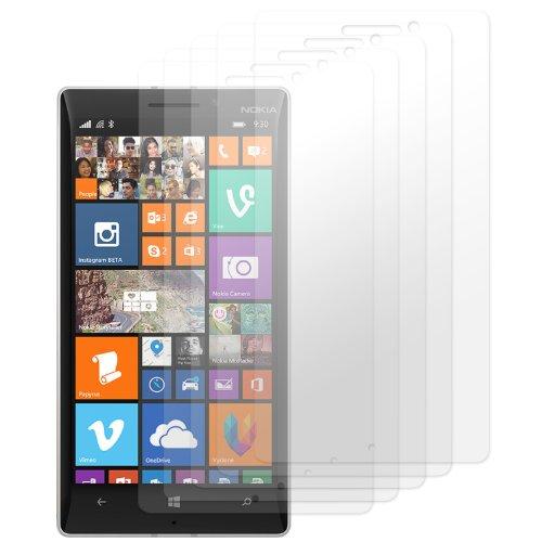 moodie Bildschirmschutzfolie für Nokia Lumia 930 Bildschirmschutzfolie [4 Stück] Premium Folien Kristallklar mit Anleitung für Nokia Lumia 930