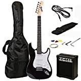 RockJam 6 ST Style Electric Guitar Super Pack with Amp, Gig Bag, Strings, Strap,...