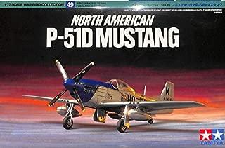 Tamiya 1:72 North American P-51D Mustang Plastic Aircraft Model Kit #60749