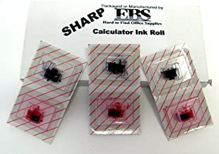 Sharp Calculator Set of Black and Red Ink Rolls --replaces EA781R and EA781B ***FRESH PACKAGE OF THREE(3) Black Ink Rolls and THREE(3) Red Ink Rolls