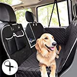 Pecute Dog Seat Cover 100% Waterproof Car Seat Covers for Pets Back Seat Cover with Mesh Window, Scratch Proof Non Slip Dog Car Hammock, Dog Backseat Cover for Cars Trucks SUV