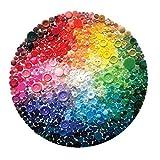 JJZHY Color Bandera Flores Botón Gay Tiempo Creativo Piedras Preciosas Cristal Vintage Zinc Alloy Broche,D,Un tamaño