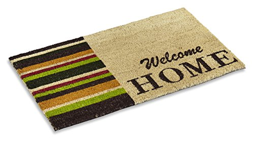 Kempf Natural Coco Coir Welcome Doormat with Non-Slip Rubber...