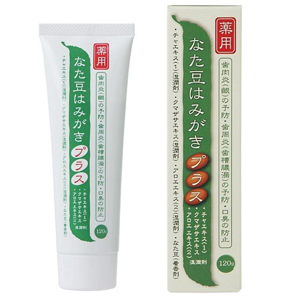 達成として主張プラセス製薬 薬用なた豆歯磨き プラス 120g