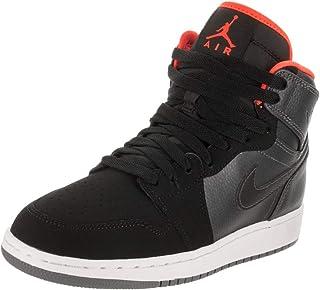 los angeles 0b427 8f8b0 Jordan Nike Kids Air 1 Retro High BG Mtlc Hmtt Hypr Orng Blk