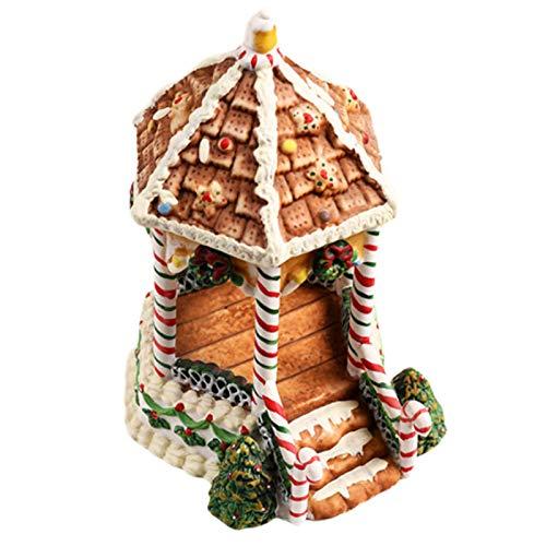 WoCart Casa de jengibre para hámster con temática navideña de lujo, para hábitat, ideal para jerbos, ratones, animales pequeños