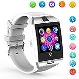 Smartwatch Bluetooth DZ09 de KXCD, reloj de pulsera inteligente, con GPS, control de actividad física, cámara, para Android, color blanco Q18