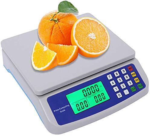 Balanza Electrónica Digital Profesional, Escala Electrónica de Precios de 25kg-1g con Batería de Litio de 3.7 Voltios, Recargable