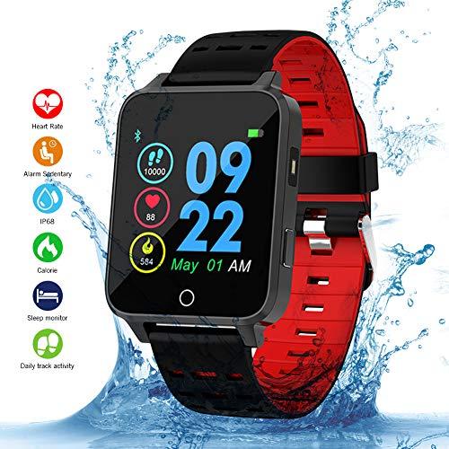 Qimaoo Smartwatch, Smart Watch Fitness Uhr X9 Fitness Tracker IP68 Wasserdicht 1.54 Zoll Aktivitätstracker mit Schrittzähler Pulsmesser Schlafmonitor Kompatibel mit IOS Android für Herren Damen