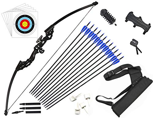 DOSTYLE Archery Takedown Recurve Bow and Arrow Set Hunting...
