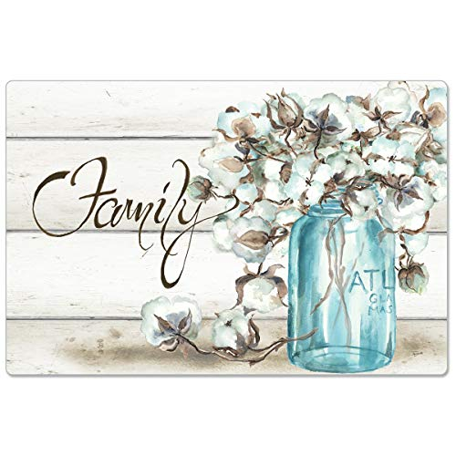 """CounterArt Anti-Fatigue Comfort Floor Mats Family-Cotton Floral in Jar - Printed in The USA 30"""" x 20"""""""