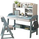 Mesa Escritorio de madera maciza se puede elevar en el escritorio de la computadora de la escuela primaria y secundaria estudiantes de estudio de la escuela de estudio de la escuela, escritorio de esc