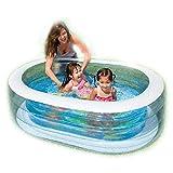 YAMMY Transparenter Unterhaltungsbereich im Freien Ovaler Pool Babypool Spielpool 163 * 107 * 46CM Geeignet für Kinder von 3-9 Jahren