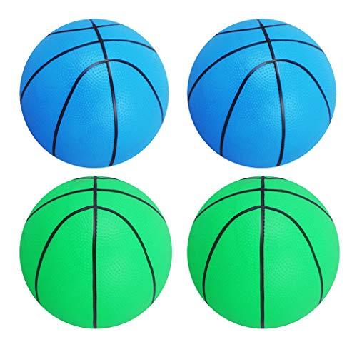 MagiDeal 4pcs / Kit Pelotas de Baloncesto Hinchables para Interior/Exterior Pelota de Deportes para Niños Juguete de Regalo