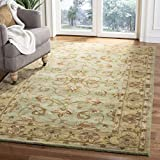 Safavieh Heritage Collection HG811A Handcrafted Traditional Oriental Green and Gold Wool Area Rug (9' x 12')