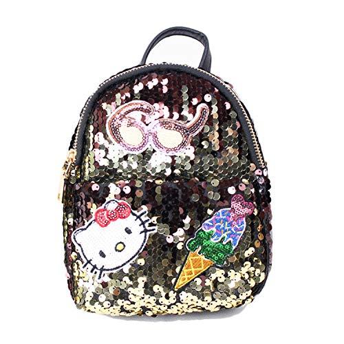Hanggg Zaino street fashion trend selvaggio borsa mini paillettes zaino da bambina