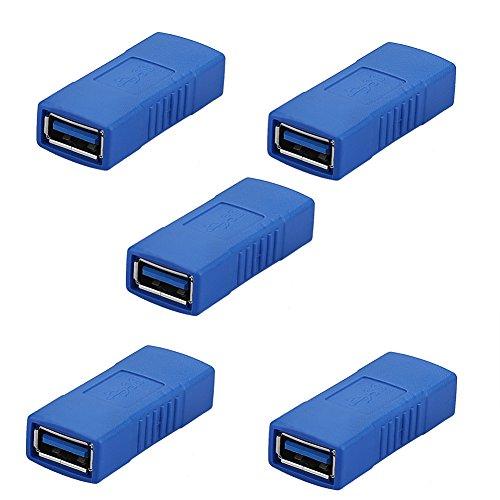 Sienoc 5pk USB 3.0/2.0 Adapter A-Typ Buchse auf Buchse Kupplung USB interne Verbinder