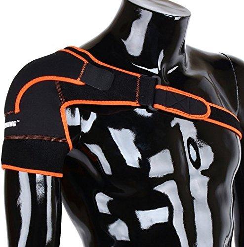 Apoyo de Hombro de Neopreno, Peso ligero ajustable Gym Deportes vendaje de hombro para hombre y mujer