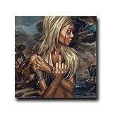 mmzki Impresiones fotográficas en Lienzo Personalizadas Resumen Cool y Girl Tattoo Lienzo Pintura Desgaste Gafas Mujeres Retrato Carteles Impresiones Wall Art Pictures for Living Room No Frame
