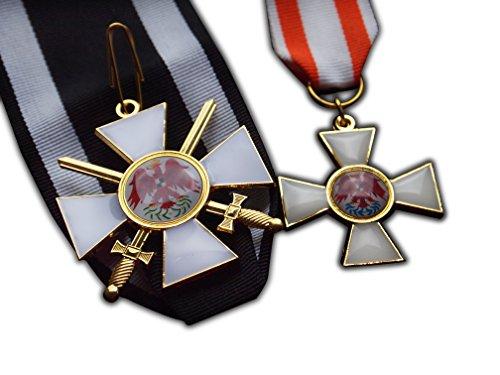 Trikoty Orden des Lesen Eagle 2. Klasse + 3. Klasse Set Preußische Imperial Militär Medaille Replica