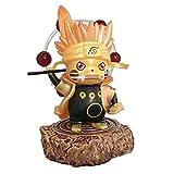 PHY Pokemon Pikachu Naruto Cosplay Figuras de Personas de Juguete para Niños Uzumaki Naruto Uchiha Obito Ootutuki Hagoromo Juego Figuras Modelo Estatua Regalo Decoración Uzumaki Naruto-10cm