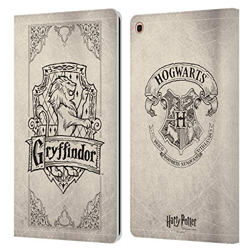 Head Case Designs Offizielle Harry Potter Gryffindor Pergament Sorcerers Stone I Leder Brieftaschen Handyhulle Hulle Huelle kompatibel mit Samsung Galaxy Tab A 101 2019