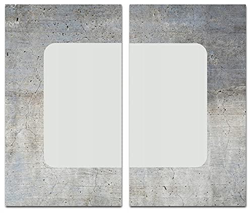 CanvasFly Glas-Herdabdeckplatte für Induktions- & Cerankochfeld, Küchen-Spritzschutz, Universale Küchenarbeitsplatte, Schneidebrett & Kochplatte-Abdeckung Rutschfest, Glasplatte inkl. Silikonnoppen