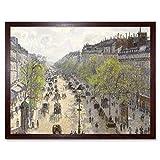Pissarro Boulevard Montmartre Spring Art Print Framed