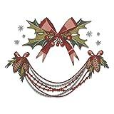Sizzix Set de Troqueles Thinlits 664229 10 pzas Decoraciones Navideñas, Deck the Halls, Colorize by Tim Holtz, Multicolor, talla única