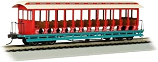 Bachmann Trains - Jackson Sharp Open-Sided Excursion Car - Amusement Park Cream, Red, and Aqua- HO Scale,Prototypical Colo...