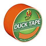 Duck Brand 1265019 Color Duct Tape, Neon Orange, 1.88 Inches x 15 Yards, Single Roll