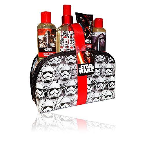 Air Val Star Wars Geschenk-Set, 1er Pack (Eau de Cologne Spray 120 ml, Duschgel 100 ml, Shampoo 100 ml, Haargel 60 ml, Kosmetiktasche mit Stormtrooper-Motiv)