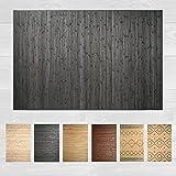 LucaHome – Alfombra bambú Uganda Ideal para Interior o Exterior, Alfombra bambú para Cocina, salón, despacho, Dormitorio con Cenefa, Alfombra de bambú Antideslizante (Dark Grey, 160x230cm)