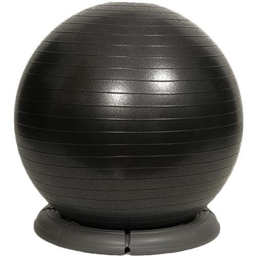 リーディングエッジ アンチバースト バランスボール 65cm ベースセット ブラック ダブルアクションポンプ付き LE-BB065