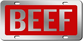 beef its whats for dinner license plate