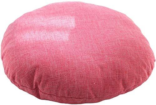 Comer cojín de la silla Sólido cojín de la silla redonda de color, grosor grande de lino con relleno de suelo almohadilla de la silla de comedor cojín del asiento tatami futón meditación colchón trans