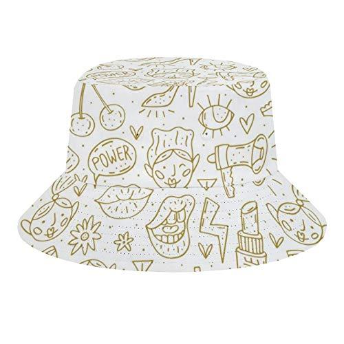 Brand Free Sombrero unisex de pescador, estampado floral sin costuras, plegable, informal, para viajes, playa, para hombres y mujeres