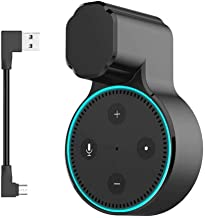MTSmart Outlet Wall Mount Stand for Home Speaker (2nd Generation),Holder Hanger Bracket Case for Home Voice Assistants, Space Saving Accessories Without Messy Wires or Screws- Black 1 Pack