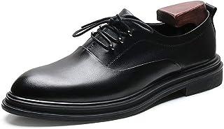 CAIFENG for Hommes d'affaires Oxfords Robe Vegan Chaussures à Lacets en Cuir □ Bout Pointu véritable Plate-Forme Basse Top...