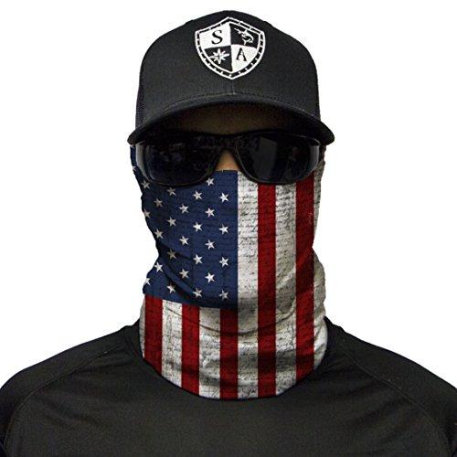 S A - 1 UV Face Shield - American Flag - Multipurpose Neck Gaiter, Balaclava, Elastic Face Mask for Men and Women