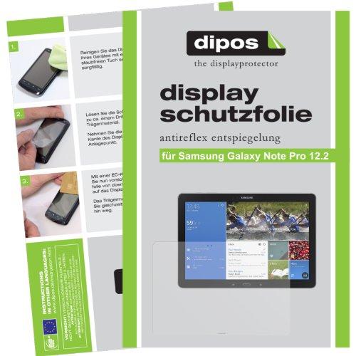 dipos I 2X Schutzfolie matt kompatibel mit Samsung Galaxy Note Pro 12.2 Folie Bildschirmschutzfolie
