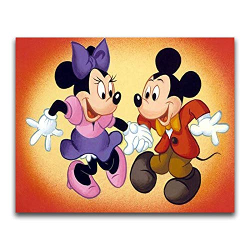 SBNKYQSL 5d DIY Diamant malerei kreuzstich Cartoon Movie Charakter Nette lustige Tier Hund Maus bär Auto Stickerei mosaik Kinder Geschenk 30 * 40 cm