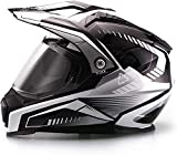casco off road con pantalla
