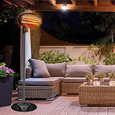 Patio Heater Electric Outdoor Heater -1500W Electric Heater Outdoor,Three-Level Adjustable Patio Heater,Dustproof and Waterproof Patio Heater,courtyard,garden,bar use,Fast Heating Electric Heater