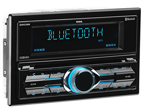 Sound Storm DDML28B or DDC28B Multimedia Car Stereo - Double Din, Bluetooth Audio and Hands-Free Calling, MP3 Player, USB Port, AUX Input, AM FM Radio Receiver, with and without CD DVD Player